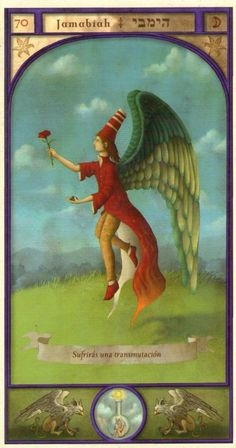(70) JABAMIAH (Kabbalistic angel) protects those born 6 - 10 March, protects those who want to renew themselves. (ángel Cabalístico) protege aquellos nacidos 06 - 10 marzo, protege a los que quieren regenerarse.