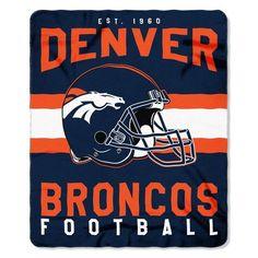 "Denver Broncos 50"" X 60"" Singular Fleece Throw Blanket"