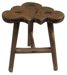 Provincial Three Leg Stool | 19th Century Chinese Stool