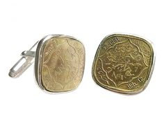 Ethical holiday gifts for dad // Indian coin cufflinks