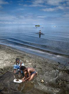 Mar de juguete, Livingston, Caribe de Guatemala