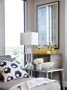 A pop of yellow! More colorful spaces: http://www.bhg.com/decorating/color/colors/best-color/