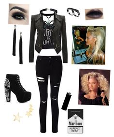"""""""Let your inner punk go"""" by laizyfangirl on Polyvore featuring Miss Selfridge, Jeffrey Campbell, Karen Kane, WALL, AS29, Rituel de Fille, Too Faced Cosmetics and Kenneth Jay Lane"""