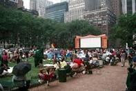 Movie in Bryant Park