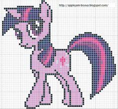MLP Twilight Sparkle pattern by Sailor-Phantom on deviantart Crochet Pony, Crochet Cross, Cross Stitching, Cross Stitch Embroidery, Cross Stitch Patterns, Hand Embroidery Designs, Embroidery Patterns, My Little Pony, Beading Patterns