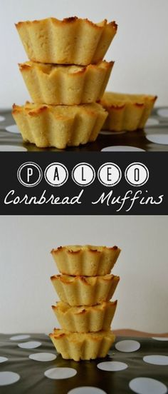 Paleo Cornbread Muffins. You won't miss regular cornbread anymore! Cornbread muffins without corn! #glutenfree #paleo #fingerfood #healthyrecipe #recipe