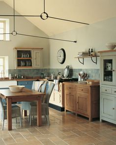 Free standing kitchen units have more benefit to use. You can configure them based on your kitchen space. You do not need to buy the whole unit of t. French Kitchen Decor, French Country Kitchens, New Kitchen, Vintage Kitchen, Kitchen Ideas, Kitchen Larder, Eclectic Kitchen, Island Kitchen, Kitchen Cupboards