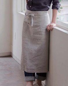 linen garcon apron