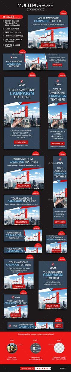 Multi Purpose Banners Template #design Download…