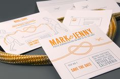 Tie the Knot Letterpress Wedding Invitations by Clutch Design via Oh So Beautiful Paper (1)