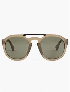 Dries Van Noten Men's Khaki Aviator Sunglasses