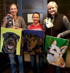 Winnipeg wine and paint parties. Party with your friends, learn to paint, make a masterpiece. Paint Your Pet, Beginner Painting, Free Fun, Paint Party, Learn To Paint, Animal Party, Pets, Fictional Characters, Animals