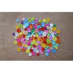 Boutique de Scrapbooking Loisirs Créatifs Gros Lot de Boutons Couture Forme Plastique Fleur Floral Nature