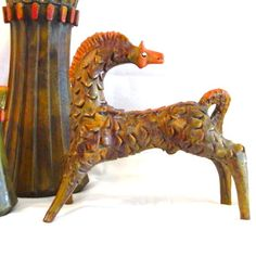 Alvino Bagni Bitossi for Raymor Art Pottery Horse Statue in EXCELLENT condition - glorious!