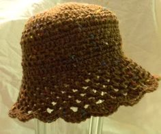 Lacy Sunny Hat.  Sized for babies, but could adapt for adult.  Free pattern.