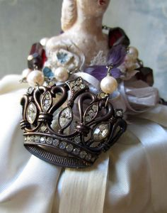 'crown jewels' necklace by The French Circus on Etsy