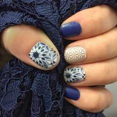 Jamberry MOH nails in Fractal, Lakeside and So Fresh