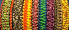 Learn the different Paracord Weaves, and How to make a Paracord Bracelet, lanyard or keychain.