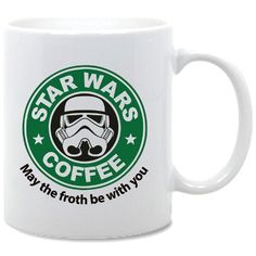Star Wars Coffee Coffee Mug by PLAN9TSHIRTS on Etsy, £5.00. Cool! Except that I don't drink coffee!