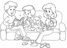 Family Coloring Pages, Colouring Pages, Coloring Pages For Kids, Coloring Sheets, Adult Coloring, Coloring Books, Preschool Family Theme, Kids Prints, Toddler Crafts