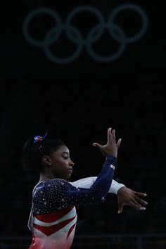 #TOPSHOT US gymnast Simone Biles competes in the Beam event during the women's team final Artistic Gymnastics at the Olympic Arena during the Rio 2016...