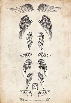 Resultado de imagem para tatuagem com asas de anjos