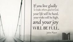John Piper: Your Joy will be full :: iBibleverses - Quotes :: Collections of Inspirational Quotes Images about Love, Hope, Faith, Praise and Worship