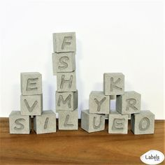 Personalised Concrete Letter Blocks Handcrafted for Industrial / Urban / Modern Home Décor, Great House Warming / Engagement / Wedding / Anniversary Gift