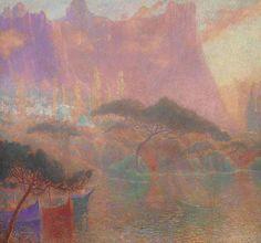 Lucien Lévy-Dhurmer (1865-1953)   La fantaisie orientale, 1921