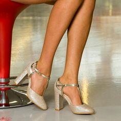 Pantofi cu Toc XKK150 Gold Mei Stiletto Heels, Pumps, Silver, Gold, Shoes, Fashion, Moda, Zapatos, Money