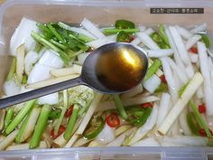 Kimchi Recipe, Korean Food, No Cook Meals, Asian Recipes, Pickles, Cucumber, Food And Drink, Dishes, Chicken