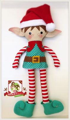 Handmade Elf doll Christmas                                                                                                                                                                                 Más