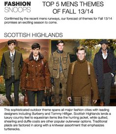 SCOTTISH HIGHLANDS - fw aw 13 14_Fashion Color Trend_1 Mens