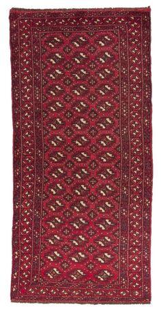 Kurdi Wunderschöner Perser Teppich  Handgeknüpfte alfombra 200 x 90  cm