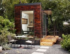 Sett Studio: A Stylish Modular Space Perfect for a Backyard Office or Guest Room    Read more: Sett Studio: A Stylish Modular Space You Can Use as a Backyard Office or Guest Room | Inhabitat - Sustainable Design Innovation, Eco Architecture, Green Building