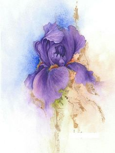 Beautiful iris water color... could be an amazing tattoo