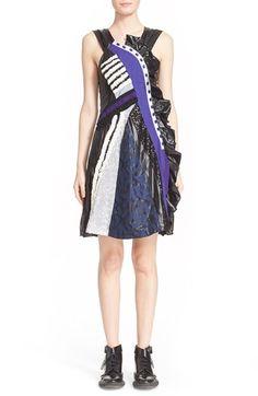 Koché Patchwork Fit & Flare Dress