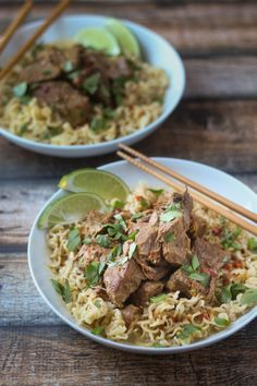 Crockpot Beef Curry with Noodles. Crockpot Beef Curry with Noodles - no hard work just delicious tender beef. Ramen Recipes, Slow Cooker Recipes, Asian Recipes, Crockpot Recipes, Cooking Recipes, Healthy Recipes, Noodle Recipes, Slow Cooked Beef, Beef Curry