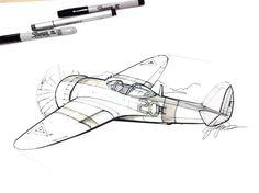 Sketch of a plane by designer Spencer Nugent