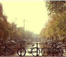 Inspiring picture amsterdam, bicycle, bridge, canal, city, europe.