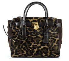 Michael Kors Hamilton Traveler Large Traveler Leopard Haircalf -- You can find more details by visiting the image link. (This is an affiliate link) #MichaelKorsHandbags