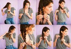 Duplafonat: fésüld oldalra a hajad és válaszd ketté. Csinálj két hajfonatot, majd gumizd össze a végüket. A copfokat rögzítsd egymáshoz apró hullámcsatokkal úgy, hogy egy vastag fonatot alkossanak.