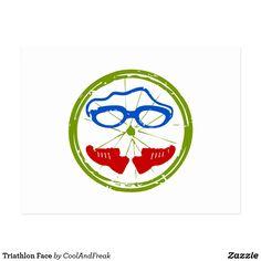 Triathlon Face Postcard