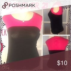 ❇️NEW ITEM❇️Colorblock Blouse The right 2 pictures show the colors better. It is a hot pink and black colorblock top. The material is super soft and it has 4 buttons going up the back. Reposhing this. Tag says XXI, which I'm told is a brand of Forever 21 Forever 21 Tops Blouses