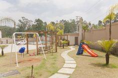 Playground da Reserva São Vicente. Complexo de condomínios fechados de apartamentos. Primeiro empreendimento da MRV em Mauá, SP.