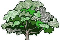 "Art from the year-long art project ""The Daily Tree"", Claudia Bear http://claudiabear.weebly.com/the-daily-tree.html"
