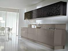 Cozinha lacada linear SYSTEM | Composition 09