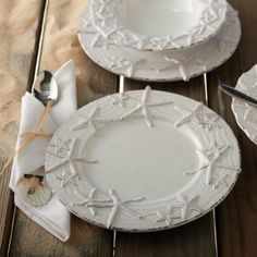 Star Fish Dinner Plates set of 4