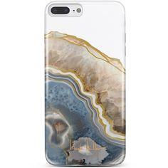 Nanette Lepore Blue/Gold Agate iPhone 7 Plus Phone Case ($15) ❤ liked on Polyvore featuring accessories, tech accessories, phone, phone cases, fillers, cases and nanette lepore
