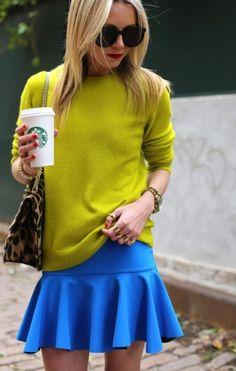 Stylish Ways to Wear a Skater Skirt Passion For Fashion, Love Fashion, Womens Fashion, Fashion Trends, Style Fashion, Mature Fashion, Fasion, Estilo Blogger, Gala Gonzalez